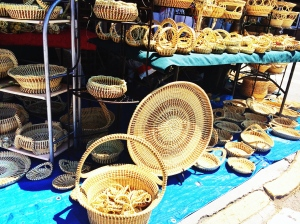 A trip to Charleston is not complete without going to the market and seeing the craftsmanship of the handmade sweetgrass baskets