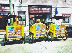 Make sure to take a pedicab around downtown